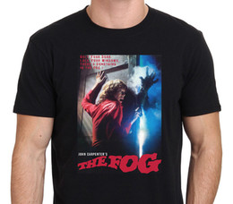 Wholesale Quality Poster Printing - Good Quality Brand Cotton Shirt Summer Style Cool Short Graphic The Fog John Carpenter Vintage Movie Horror Poster O-Neck Mens Tees