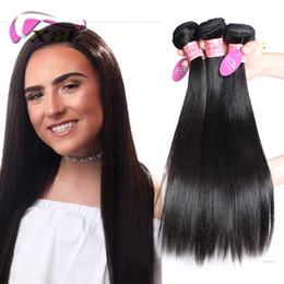 Um tecido on-line-Extensões de cabelo humano xblhair reto de seda cabelo malaio bundles tecer cabelo virgem 3 peças de um conjunto