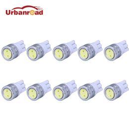 Wholesale Bulbs Dashboard - Urbanroad 10pcs lot T10 W5W LED Bulbs 194 168 COB Xenon White Parking Interior Side Dashboard License Light Lamp Car Styling