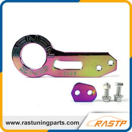 Wholesale Honda Civic Rear - RASTP - BENEN Neo Chrome CNC Anodized Aluminium Rear Tow Hook For Honda Civic Integra Type R Prelude Accord CRX SMX RS-TH002