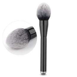 Wholesale Synthetic Mixed Hair Blends - Wholesale-Flame Top Round Soft Makeup Cosmetic Brush Foundation Loose Powder Blusher Flawless Blending Mixing Pro makeup Salon Beauty Tool