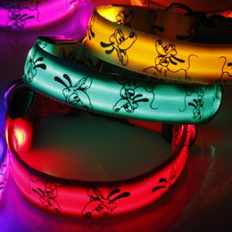 Wholesale Small Animal Wholesale Supply - Dog Collars Nylon Night Safety LED Dogs Collar Lights Flashing Glow Pet Supplies Dog Cat Leash free DHL