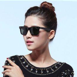 Wholesale Hinge Boxes - Top Quality Sunglasses Men Women Brand Designer Fashion Metal Hinge Sunglasses UV400 With Orginal Package Box 50 54mm