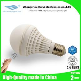 Wholesale Sensor Lighting Bedroom - New E27 3w 5w led Sound and Light sensitive Auto Sensor Voice Detection LED cool white Warm White 85-260v led lighting&led bulb