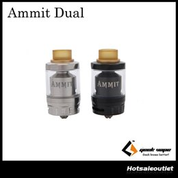 Wholesale dual coil 6ml - Authentic Geekvape Ammit Dual Coil Version RTA Tank with 6ml e-Juice Capacity & New 20mm Build Deck 100% Original