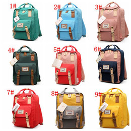Wholesale Nappies Newborn - Mommy Backpack Baby Diaper Bags Waterproof Laptop Bag Newborn Infant Nappy Stackers Mother Handbag Tote Student Bags KKA1945