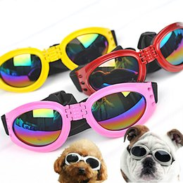 Wholesale Sunglasses Pet - 5*17Cm Dog Goggles Sunglass Pet Supplies Dog Accessories Fashion Cool Style Glasses UV Protection 6 Colors Available