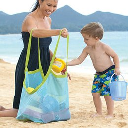 Wholesale Beach Sea Shells - Wholesale Beach Mesh Bags Sand Away Collection Toy Bag Storage For Sea Shell Collection Toy Bag Kids Children Tote Organizer Storage Bags