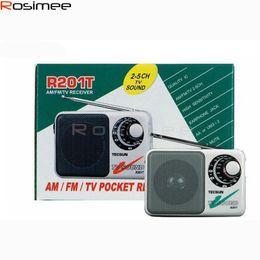 Wholesale Portable Tv Sound Radio - Wholesale-Tecsun R-201T R201T Portable AM FM Radio High Sensitivity Pocket Receiver TV Sound 2-5CH Portable Built-In Speaker Drop Shipping