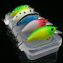 Wholesale Fishing Lures Kits - Fishing Lure Kit 5 Pieces Mini Crank Bait Artificial Lures Wobblers Small Fat Fish Hard Bait