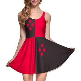 Wholesale Galaxy Chiffon - Wholesale- New 2016 Fashion Dress Sexy Party Dress galaxy 3D print HARLEY QUINN REVERSIBLE SKATER DRESS casual dresses