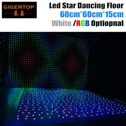 Wholesale Dj Dance Floor Lighting - Ex-works Price 60cm x 60cm LED White Acrylic Panel Dancing Dance Floor Remote Control Stage Light KTV Bar Party Disco DJ Club LED effect