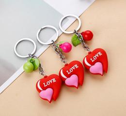 Wholesale Metal Rings Wings - Metal Gold key ring Lover heart Angel wings keychain Charm Pendant Jewelry Trinket Bag Aceessory best gift aa408