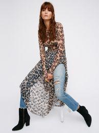Wholesale Dresses Irregular Leopard - 2017 women's famous brand maxi dress irregular lace long printing dress two pieces leopard print lace dresses sexy backless dress