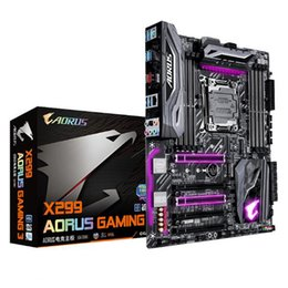 Wholesale Gigabyte Usb - Gigabyte X299 AORUS Gaming 3 Motherboards Four Channels High-end Game Desktop Mainboard Support i9 7900X lga2011 Better Than Z270
