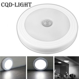 Wholesale Ir Infrared Sensor - Wholesale- Wall Lights Magnetic Infrared IR Bright Motion Sensor Activated LED Night Light Auto On Off Battery Operated for Hallway Pathway