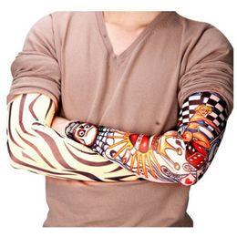 Canada Nouveau Nylon Élastique Faux Tatouage Temporaire Manche Designs Corps Bras Bas Tatoo pour Hommes Hommes Femmes supplier cool sleeve tattoos for men Offre