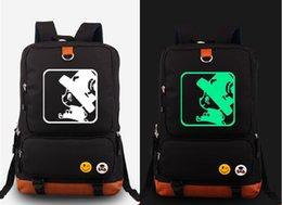 Wholesale One Piece Shoulder Bag - Wholesale- One Piece Luffly Luminous Shoulder Backpack Glow In Dark Travel School Laptop Bag Gift