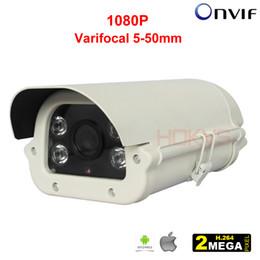 Wholesale Varifocal Ir Camera - 5-50mm Varifocal Zoom Lens Network IP Camera Onvif 2MP 1080P HD IR Bullet for Outdoor Security & Protection CCTV Surveillance