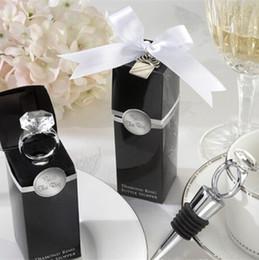 Argentina Anillo de diamantes de cristal vino / botella de cerveza tapón boda nupcial ducha favores regalos fiesta de compromiso decoración + DHL envío gratis Suministro