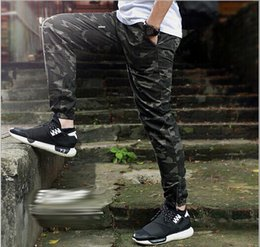 Wholesale Sport Camo Cargo Pants - Fashion Camo Jogger Pant For Men Slim Casual Cargo Pants Military Camouflage Sport Pant Trousers