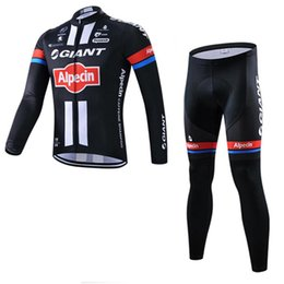 Wholesale Giant Outdoor - New 2017 GIANT Cycling Jersey Cycling Suit High Quality Long Sleeve Cycling Clothing Set Outdoor Bicycle Clothing maillot ciclismo D1015