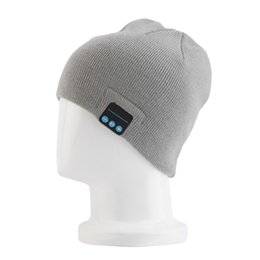 Wholesale Shipping Fashion Speakers - Christmas Gift Colorful Bluetooth Music Soft Warm Hat With Stereo Headset Speaker Wireless Hands-free Cap free shipping DHL free