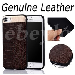 Wholesale Real Grains - HOCAR Genuine Cow Leather Case Luxury Fashion Full Grain Real Leather Shock Proof Back Cover Top Quality Cases For iPhone 7 7 Plus
