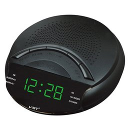 Speaker band on-line-Mini FM / AM Dual Band Receptor de Rádio Com Função de Relógio Portátil Display LED Snooze Sonooze Multifuncional Receptor de Rádio Speaker
