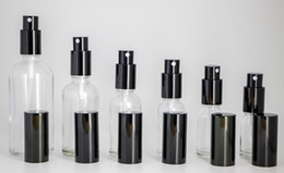 Wholesale Clear Glass Spray Bottles - Wholesale Lot Clear Glass Spray Bottles 10ml 15ml 20ml 30ml 50ml 100ml Portable Refillable Bottles with Perfume Atomizer Black Cap Free DHL