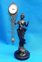 Angelo orologio online-Bellissimo orologio a pendolo in bronzo raffigurante la statua della dea Angel