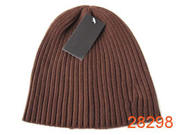 Wholesale Beanie Brown - hot brand designer winter knitting hats Beanie cap L style men's women's winter autumn knitted warm hats beanies