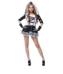 Wholesale Halloween Costumes Pirates Womens - New Halloween Ghost Bride Sexy Vampire Witch Zombie Dark Princess Dress Adult Womens Cosplay Party Themed Costume