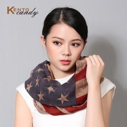 Оптово-американский флаг бесконечности шарф платок женщины звезда полосой женщин echarpes роковой fulares женщин пончо пончо осень-зима угощал от