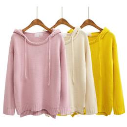 Casacos de mulheres bonitos casacos on-line-Atacado-retro mulheres blusas e pulôveres estilo bonito harajuku 2016 casacos coreano novo kawaii outono inverno rosa camisola de grandes dimensões mulheres