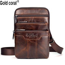 Wholesale Blue Cross Small Business - Wholesale-New arrival Guarantee genuine leather men messenger bags casual business small shoulder bags for men cross body travel bags