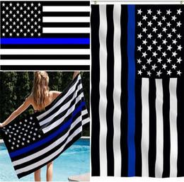 bandiere bianche rosse Sconti Blue Line USA Flags 3 By 5 Foot Thin Red Line Bandiera USA Nero Striscia bianca e blu Bandiera americana con occhielli in ottone I033