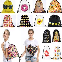 Sacs à dos unisexes imprimés Emoji 3D Expression QQ non tissé à dos Sacs à dos pour enfants Bagages Sacs à bandoulière 26Designs HH7-44 ? partir de fabricateur
