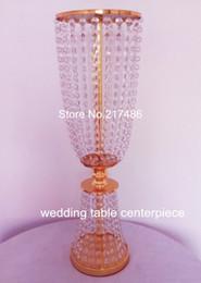 centrotavola di cristallo della decorazione di cerimonia nuziale Caldo !! Candelabri in cristallo per matrimoni in vendita, candelabri decorativi per matrimoni alti da