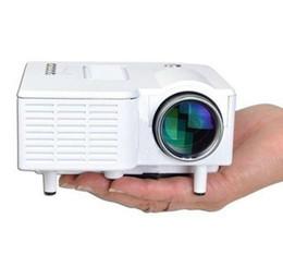Wholesale Mini Hdmi Projector Adapter - Wholesale-Mini Portable Home Cinema Theater 1080P Multimedia USB LED Projector Laptop AV USB SD HDMI US Adapter