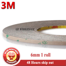 Wholesale 6mm Double Sided Tape - Wholesale- 2016 1x 6mm*55M*0.17mm 6.7 mil (thickness) 3M 9495LE 300LSE Clear Double Coated Tape High Bond Strength for Phone LCD Frame Cas