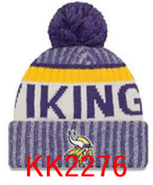 Wholesale Knitted Cotton Beanie - New Fashion Unisex Vikings Winter Minnesota Hats for Men women Knitted Beanie Wool Hat Man Knit Bonnet Beanie Gorro Warm Cap