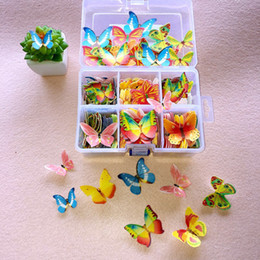 Wholesale Butterfly Wedding Toppers - DHL Express Wholesale Edible Butterfly Cupcake Toppers Wafer Wedding Cake Birthday Cake Food Decoration Free Shipping (7)