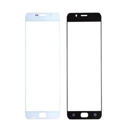 taccuino blu Sconti Sostituzione della copertura in vetro del touch screen esterno anteriore 300PCS per Samsung Galaxy Note 4 N9100 Note 5 N9200 Vetro bianco blu oro