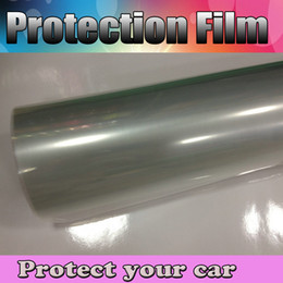 Wholesale Transparent Film Foil - Clear Car Protection Protector Film Scratches Resistant Cover Vinyl Transparent Gloss foil Protect Vehicle graphics size 1.52x30m Roll