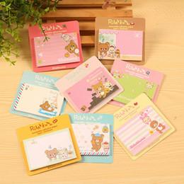 Wholesale Rilakkuma Notepad - Wholesale- Kawaii Korean Rilakkuma Stick Sticky Notes And Memo Pads Paper Post It Bookmark Mini Notepad For Kid Girl School Stationery