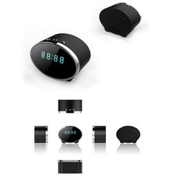 Wholesale Spy Cameras 5mp - 1080P 5MP Pixels 140 Degree Wifi Spy Alarm Clock Camera Motion Detection For Android and IOS