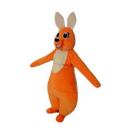 Wholesale Orange Cartoon Pictures - Orange Kangaroo Mascot Costumes Cartoon Character Adult Sz 100% Real Picture 002