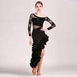 Canada 2018 nouveau style dentelle femmes robe latine Latina robe de danse samba salsa robe frange costumes de danse latine pour les femmes sexy robes de tango Offre