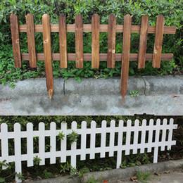 Wholesale Garden Heating - Garden Fencing Trellis Antiseptic Wooden Fence Solid wood Guardrail Courtyard greening Wedding Garden Flower beds decorations 60x35x20cm DHL